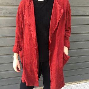 NEW Zara Oversized Linen Coat